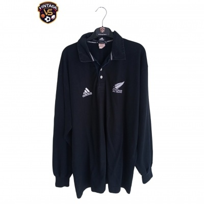 "New Zealand All Blacks Rugby Home Shirt L/S 2000 (2XL) ""Good"""