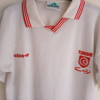 "Tunisia Football Home Shirt 1992-1994  (M) ""Good"""