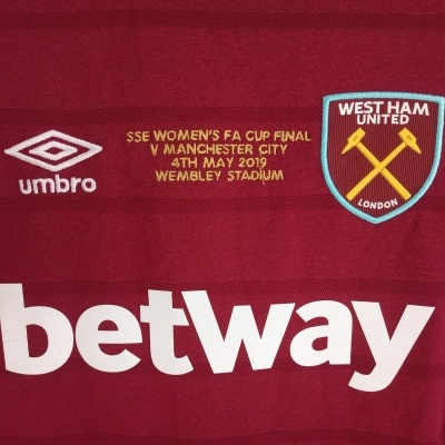 """West Ham United Home Shirt 2019 Womens FA Cup Final """"Perfect"""""""