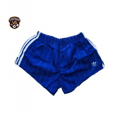 """Vintage Striped Shorts Adidas 1980s Blue (L) """"Perfect"""""""