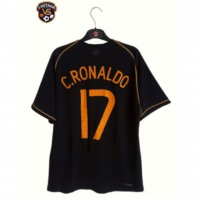 "Portugal Away Shirt 2006-2008 #17 Ronaldo (M) ""Good"""