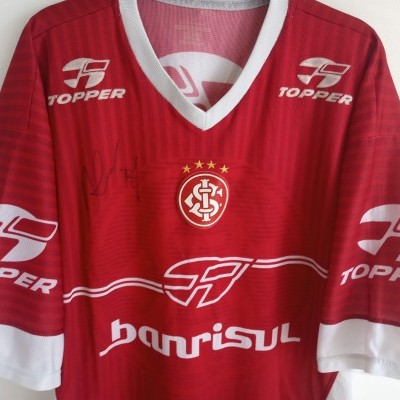 "Signed SC Internacional Porto Alegre Training Shirt 2003 (XL) ""Good"""