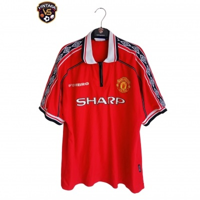 "Manchester United Home Shirt 1998-1999 (XL) ""Good"""