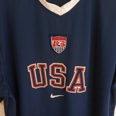 "USA US Soccer Training Shirt 1990s (M) ""Good"""