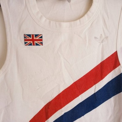"SIGNED Team GB Great Britain Athletics 1980s Judy Simpson ""Good"""