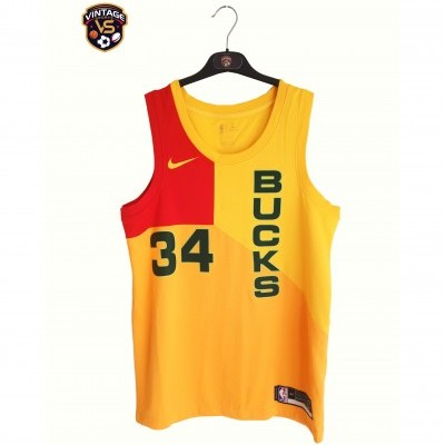 "Milwaukee Bucks NBA City Edition Shirt #34 Antetokounmpo (44) ""Perfect"""