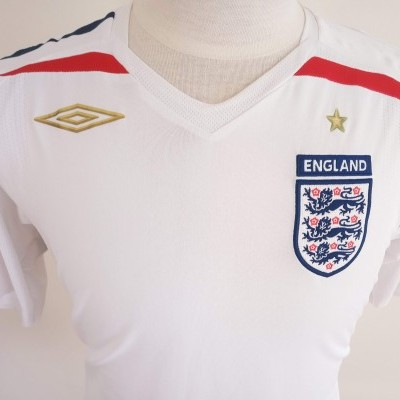 "England Home Shirt 2007-2009 (L) ""Very Good"""