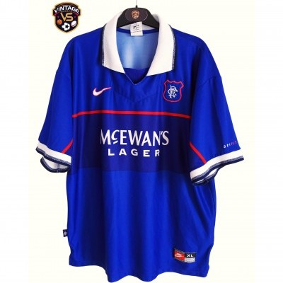 "Glasgow Rangers FC Home Shirt 1997-1998 (XL) ""Good"""