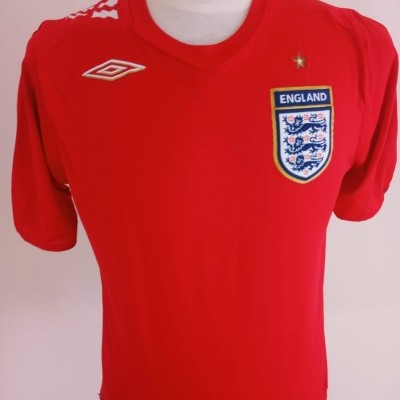 "England Away Shirt 2006-2007 (M) ""Very Good"""
