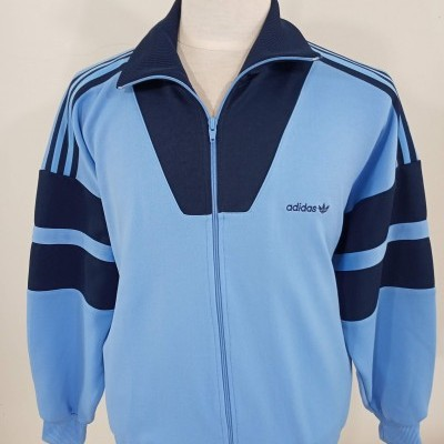 Vintage Track Top Adidas 1990s (M) Blue Jacket