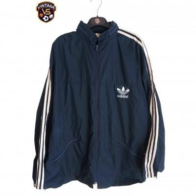 """Vintage Adidas Windbreaker Rain Jacket Blue White (L) """"Good"""""""