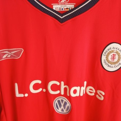 "Matchworn Crewe Alexandra FC Home Shirt 2003-2004 (XL) ""Good"""