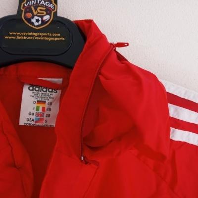 "Vintage Adidas Windbreaker Rain Jacket Red White (S) ""Very Good"""