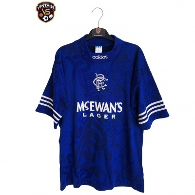 "Glasgow Rangers FC Home Shirt 1994-1996 (M) ""Very Good"""