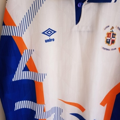 "Luton Town FC Home Shirt 1991-1992 (L) ""Very Good"""