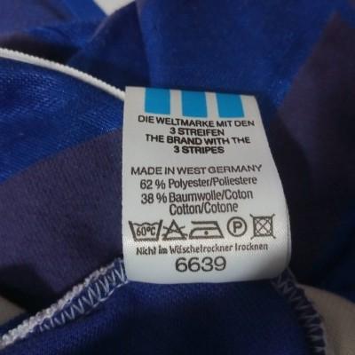"Vintage Adidas Football Shirt Blue 1987 Yugoslavia (L) ""Good"""