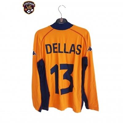 "AS Roma Third Shirt L/S 2001-2002 #13 Dellas (L) ""Perfect"""