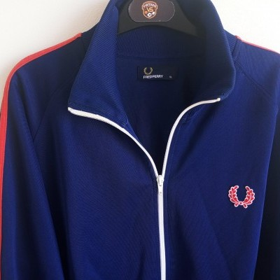 """Fred Perry Jacket Track Top Blue Red (XL) """"Very Good"""""""