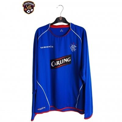 "Glasgow Rangers FC L/S Home Shirt 2005-2006 (XXL) ""Bad"""