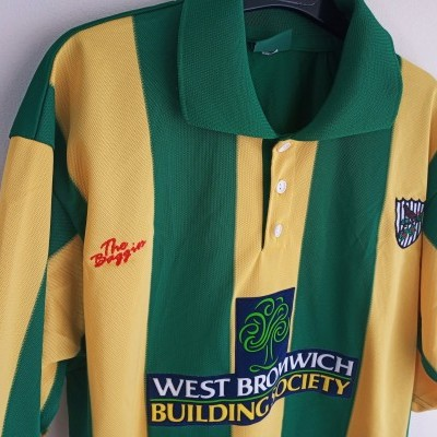 "WBA West Bromwich Albion FC Away Shirt 2001-2003 (M) ""Perfect"""
