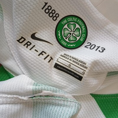 """Celtic Glasgow FC 125 Years Home Shirt 2012-2013 (L) """"Very Good"""""""