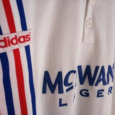 "Glasgow Rangers FC Away Shirt 1996-1997 #8 Gascoigne (XXL) ""Good"""