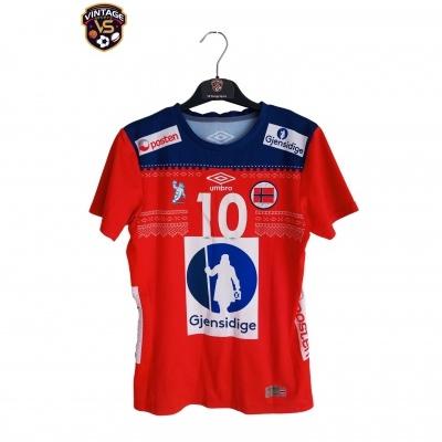 "Matchworn Norway Handball Home Shirt 2017 #10 Oftedal ""Good"""