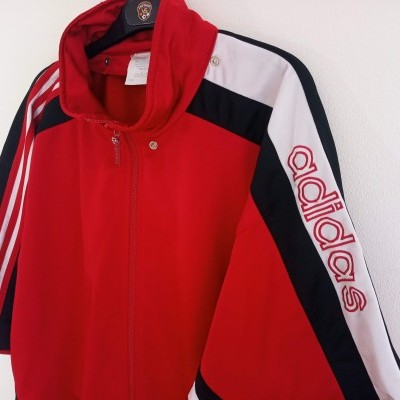 "Vintage Adidas Short Sleeve Track Top Jacket (XL) ""Good"""