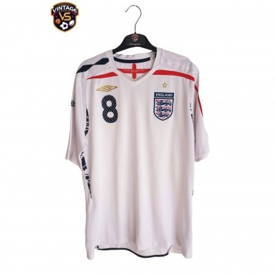"England Home Shirt 2007-2009 #8 Lampard (L) ""Good"""