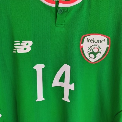 NEW Republic of Ireland Player Issue Home Shirt 2017 #14 (S)