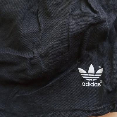 """Vintage Shorts Adidas 1980s Black Cotton (M - D6) """"Good"""""""