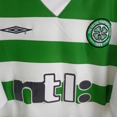 "Celtic FC Home Shirt 2001-2002 (L) ""Good"""