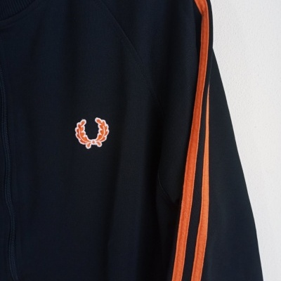 "Fred Perry Track Top Jacket Black Orange (M) ""Very Good"""