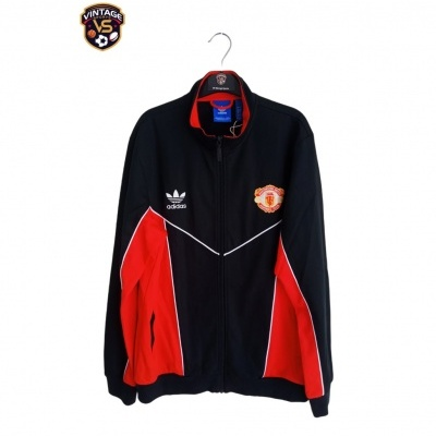 """Manchester United Track Top Jacket 1988-1990 (L) """"Very Good"""""""