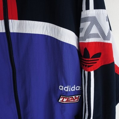"Vintage Track Top Jacket Adidas Team Blue Red (XL) ""Very Good"""