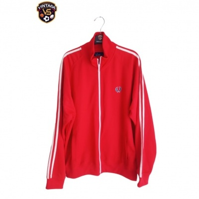 """Fred Perry Track Top Jacket Red White (XL) """"Very Good"""""""