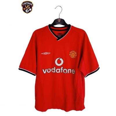 "Manchester United Home Shirt 2000-2001 #4 Veron (Youths) ""Good"""