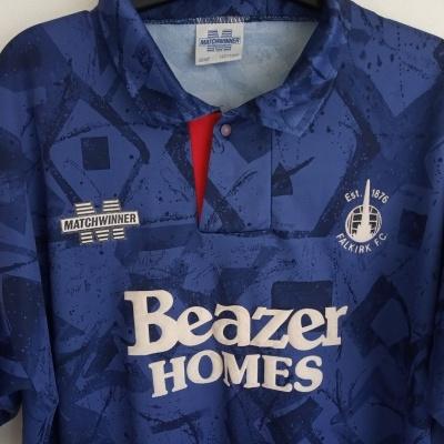 "Falkirk FC Home Shirt 1994-1995 (L) ""Very Good"""