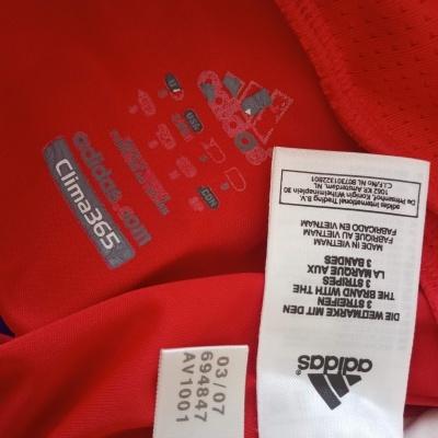 "SL Benfica Home Shirt L/S 2007-2008 (S) ""Very Good"""