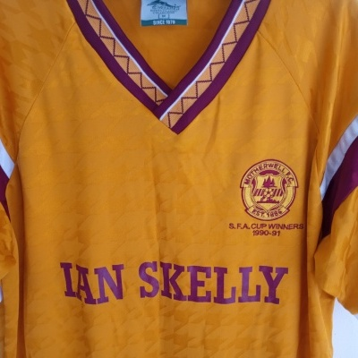 "Retro Motherwell FC Home  Shirt 1990-1991 (M) ""Good"""