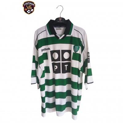 """Sporting CP Home Shirt 2001-2002 (XXL) """"Very Good"""""""