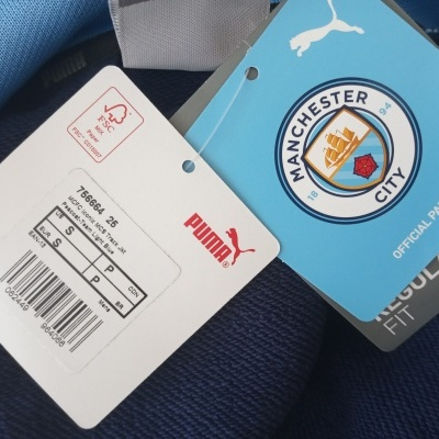 NEW Manchester City Iconic Track Top Jacket (S)