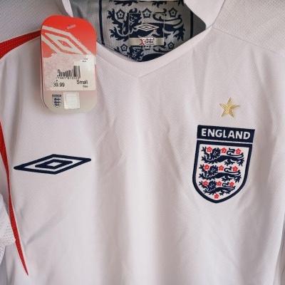 NEW England Home Shirt 2005-2007 (S)