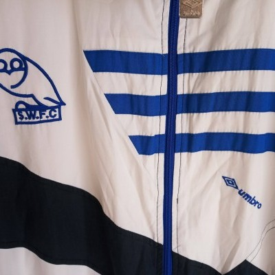 "Sheffield Wednesday Track Top Jacket 1991-1993 (XL) ""Very Good"""