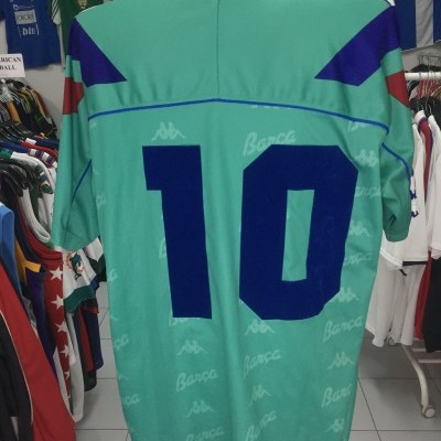 Vintage FC Barcelona Away Shirt 1992-94 (XL) #10 Romario