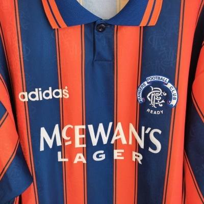 "Glasgow Rangers FC Away Shirt 1993-1994 (XL) ""Very Good"""