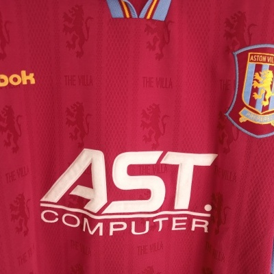 "Aston Villa FC Home Shirt 1995-1997 (XL) ""Very Good"""