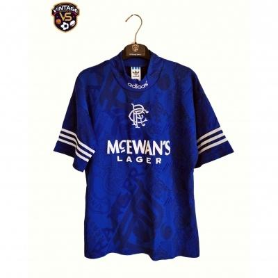 "Glasgow Rangers FC Home Shirt 1994-1996 (S) ""Very Good"""