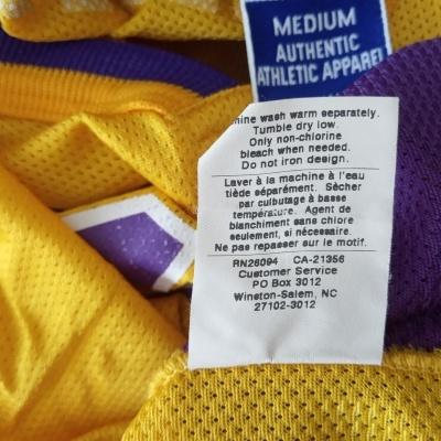 "LA Los Angeles Lakers NBA Jersey #8 Bryant (40) ""Good"""