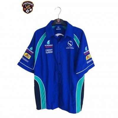 "Sauber Petronas F1 Team Formula 1 Button Down Shirt (S) ""Perfect"""